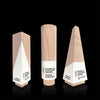 Maple Wood and White Modern Geometric Award Suite