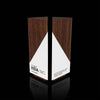 Geometric Wooden Walnut and White Paint Custom Engraved Trophy for IIDA
