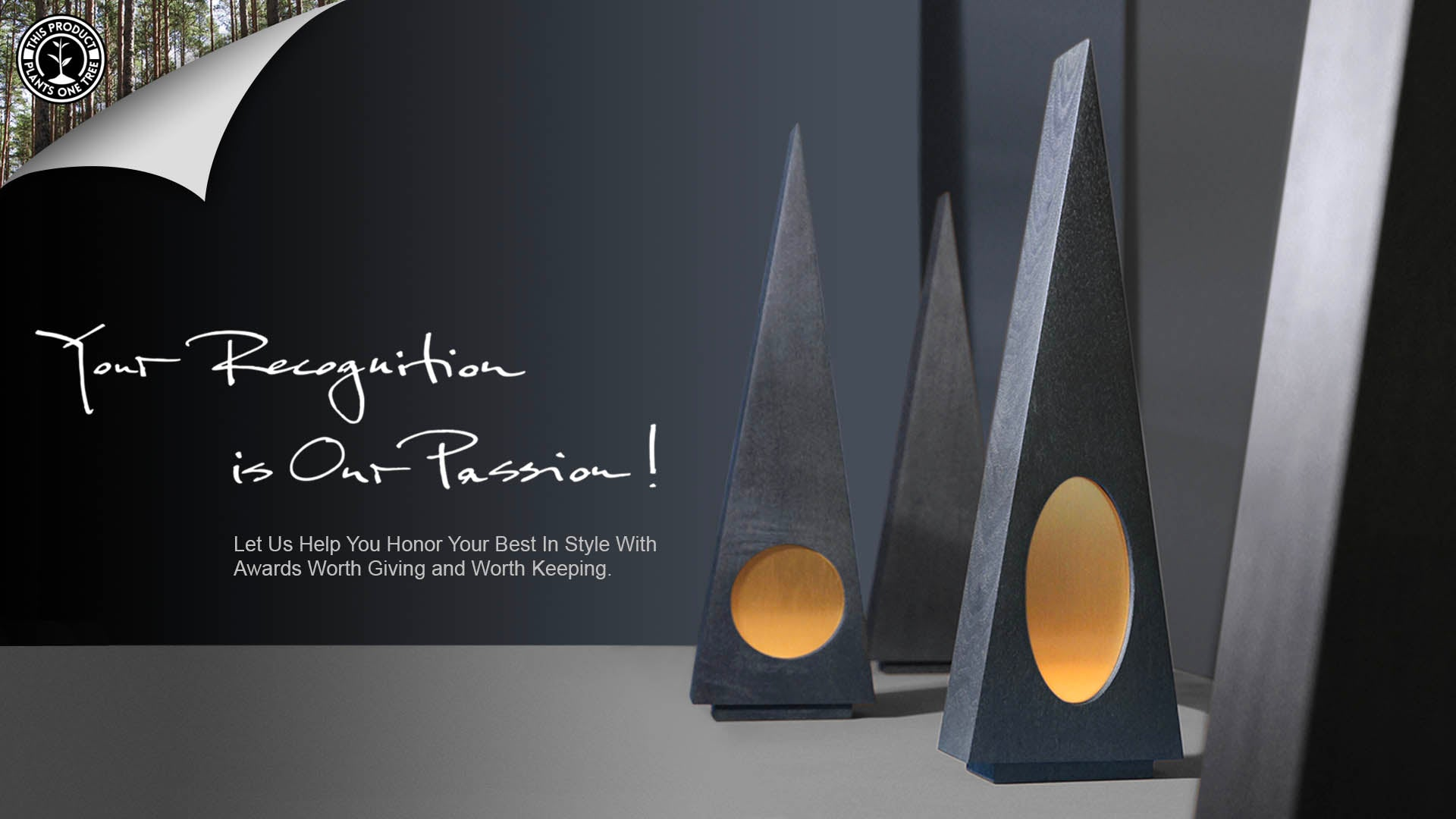 Modern Eco Awards from Reclaimed Wood and Metal