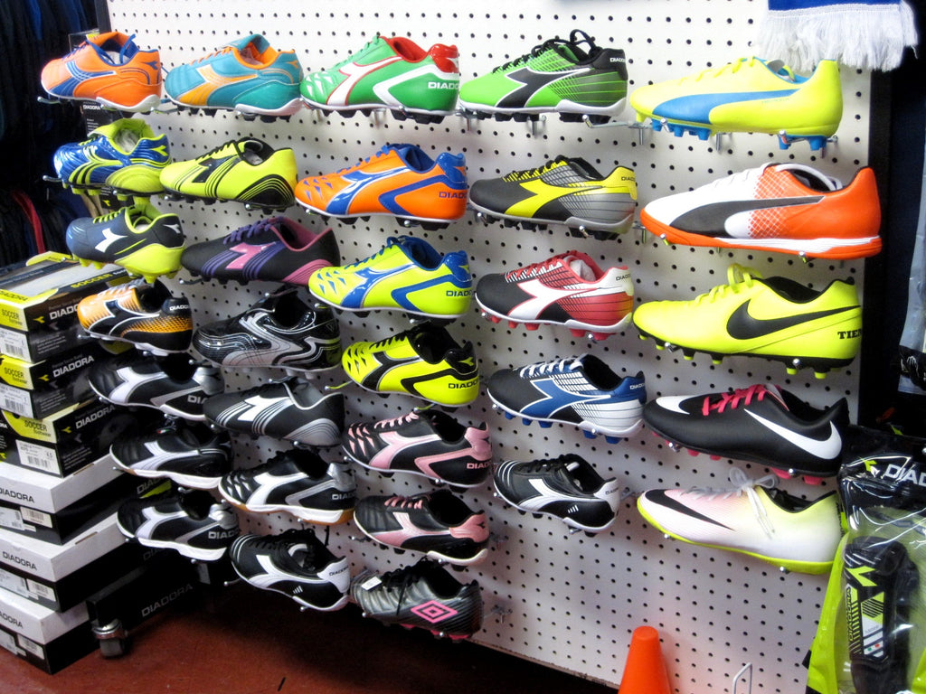 New Soccer Cleats and Indoor Shoes In Stock as well as socks shin guards and accessories