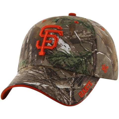 San Francisco Giants MLB '47 MVP Realtree Frost Camo Hat Cap Adult Adjustable