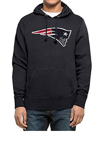 New England Patriots NFL 47 Brand Knockaround Hood Headline Pullover Hoodie Navy Blue Adult Men's