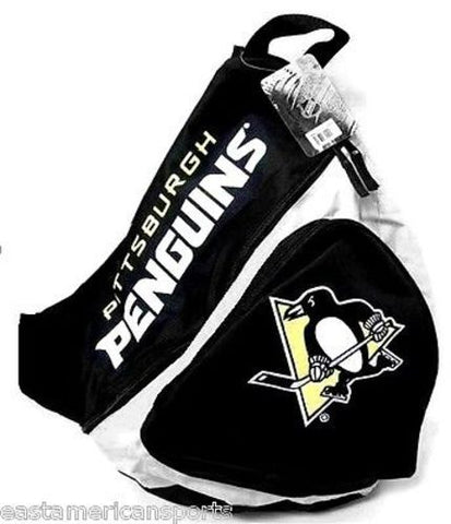 Pittsburgh Penguins NHL Sling Book Bag Camera Case Back Pack School Slingshot