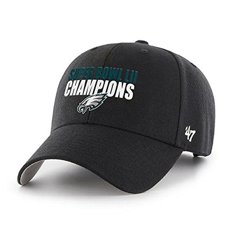 '47 Philadelphia Eagles NFL Super Bowl LII 52 Black MVP Hat Cap Adult Men's Adjustable