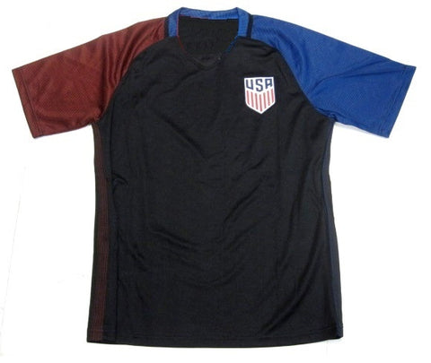USA Soccer Futbol Black Away Jersey Embroidered Patch Logo Men's S, M, L, XL