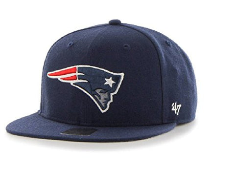 New England Patriots NFL 47 Brand Fulton Captain Flat Strapback Hat Cap Adult Adjustable