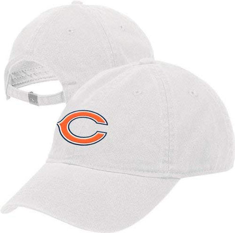 Chicago Bears Women's -White- Adjustable Slouch Strapback Hat