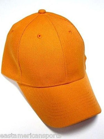 Fluorescent Orange Hunting Fishing Blank Hat Cap Billed Visor Snow Winter Camo