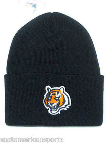 Cincinnati Bengals NFL Cuffed Knit Hat Cap Black Orange Logo Winter Snow Beanie