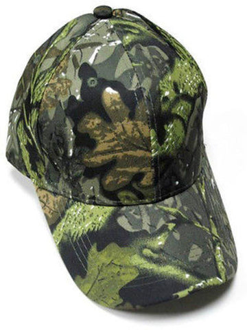 Camouflage Camo Mossy Oak Night Green Hat Cap Hunting Fishing Hiking Camping
