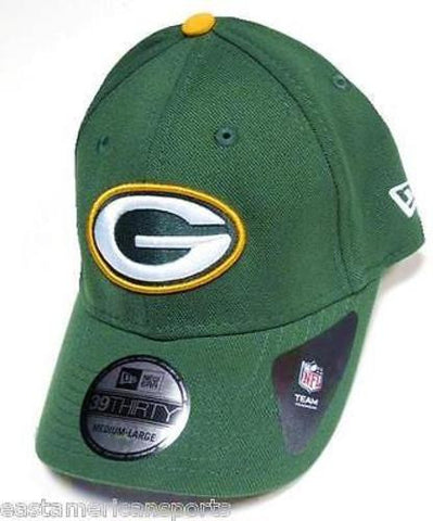 Green Bay Packers NFL NEW ERA TD Classic 39Forty Hat Cap Green Fitted M/L