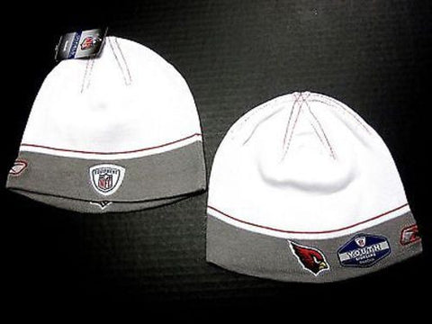 Arizona Cardinals NFL YOUTH Reebok Sideline Two Tone Hat Cap Knit White Beanie