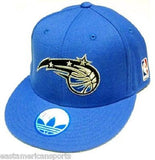 Orlando Magic NBA Adidas Solid Blue Flat Brim Visor Hat Cap Flex Fit 7 3/4 L/XL