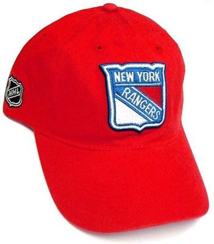 New York Rangers NHL Reebok Basic Red Slouch Hat Cap Relaxed Fit Adjustable