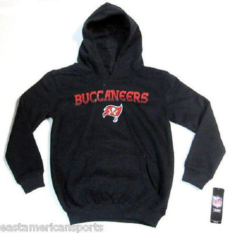Tampa Bay Buccaneers NFL Pullover Black Hoodie Sweat Shirt Jacket Youth M 10/12