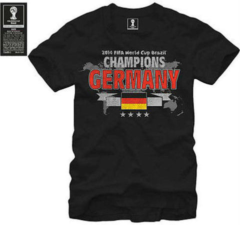 Germany OFFICIAL FIFA World Cup 2014 CHAMPIONS Soccer Jersey Shirt Black S