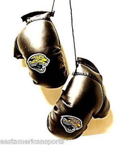 Jacksonville Jaguars NFL Boxing Gloves Car Logo Decoration Mirror Hang Ornament