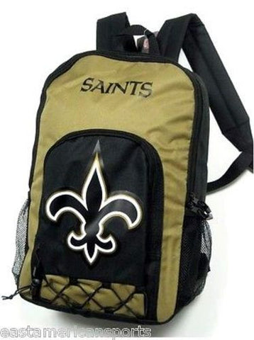 New Orleans Saints NFL Echo Backpack School Book Bag Full Size Travel Gym Case