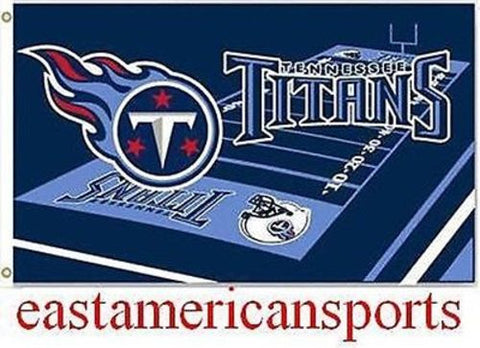 Tennessee Titans NFL 3' x 5' Field Logo Yard Flag Pole Banner Tailgate Bar Room