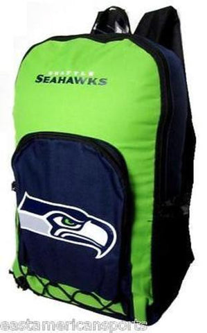 Seattle Seahawks NFL Echo Backpack School Book Bag Full Size Travel Gym Case