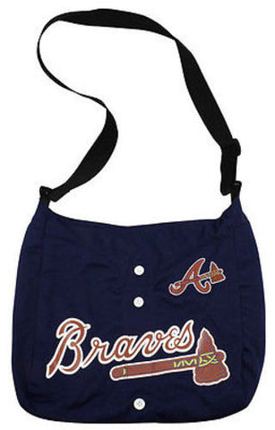 Atlanta Braves MLB Veteran Jersey Messenger Purse Tote Hand Bag Case Handbag