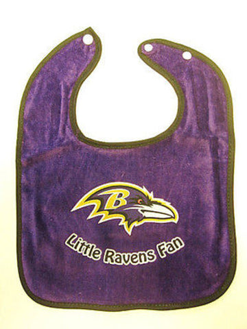 Baltimore Ravens NFL Baby Boys Purple Snap Bib Infant Toddler Newborn Little Fan