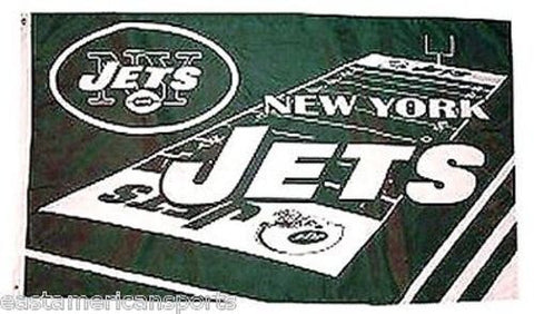 New York Jets NFL 3 x 5 Field Yard Flag Pole Fan Banner Tailgate Home Bar Decor
