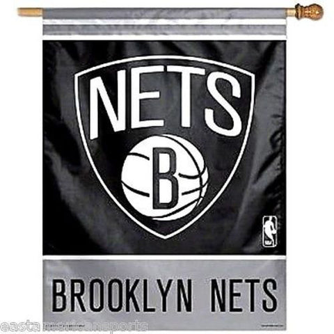 Brooklyn Nets NBA 27 x 37 Vertical Hanging Wall Flag Fan Banner Logo Bar Room