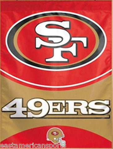 San Francisco 49ers NFL 27 x 37 Vertical Hanging Wall Flag Logo Banner Bar Room