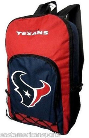 Houston Texans NFL Echo Backpack School Book Bag Full Size Travel Gym Case