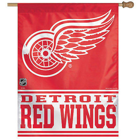 Detroit Red Wings NHL 27 x 37 Vertical Hanging Wall Flag Fan Banner Logo Bar