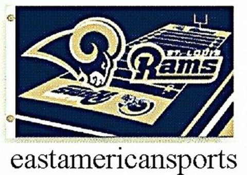 St Louis Rams NFL 3' x 5' Field Logo Yard Flag Pole Fan Banner Tailgate Bar Room