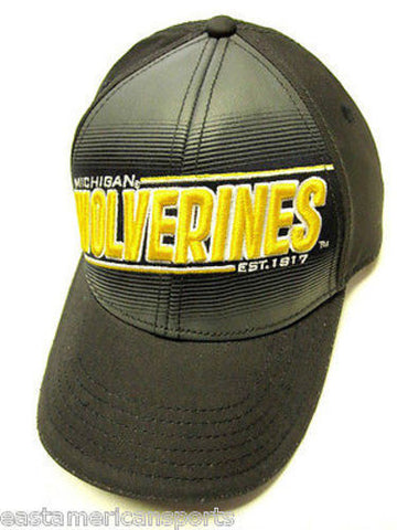 Michigan Wolverines NCAA Est 1817 Hat Cap Blue Gray Yellow Logo Adult Adjustable