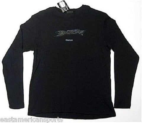Anaheim Ducks NHL Reebok THERMAL Long Sleeve Black Ice Shirt Logo Men's Large L