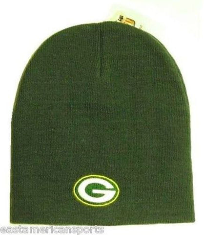 Green Bay Packers NFL Solid Green Knit Hat Skull Cap Winter Ski Snow Beanie