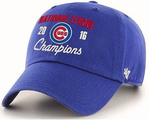 Chicago Cubs MLB '47 Hat Cap 2016 World Series Champions Royal Blue Clean Up