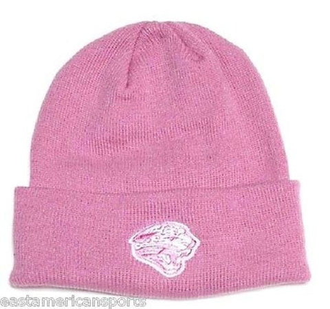 Jacksonville Jaguars NFL Reebok Pink Knit Hat Cap Breast Cancer Beanie Womens