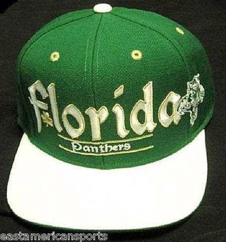 Florida Panthers NHL Reebok Flat Hat Cap Green Irish Clover St Patricks Shamrock