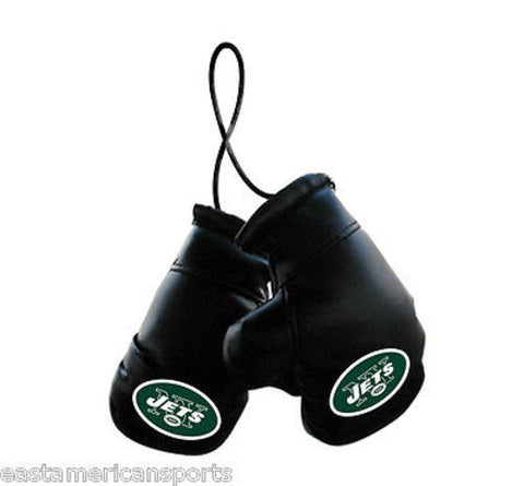 New York Jets NFL Boxing Gloves Car Auto Logo Decoration Mirror Hanging Ornament