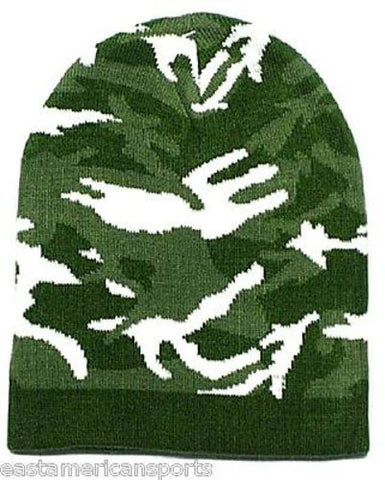 Camouflage Camo Green Winter Knit Hat Skull Cap Toboggan Beanie Hunting Army