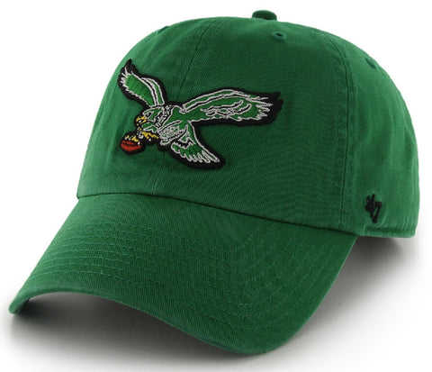 Philadelphia Eagles '47 Clean Up Green Vintage Throwback Slouch Hat Cap Adult