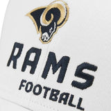 Los Angeles Rams Football NFL Reebok White Structured Hat Cap Adult Men's Adjustable