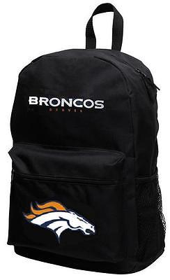 Denver Broncos NFL Sprinter Black Backpack School Book Bag Travel Gym Case