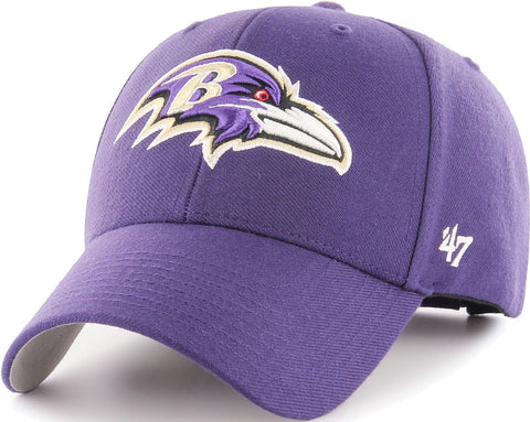Baltimore Ravens NFL '47 MVP Purple Structured Hat Cap Adult Men's Adjustable
