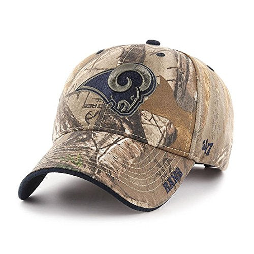 d3a9ae41 Los Angeles Rams NFL 47 Brand Realtree Frost Camo Hat Cap Adult Men's  Adjustable