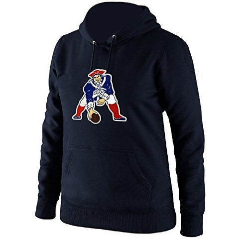 '47 New England Patriots NFL Brand Retro Legacy Headline Hoodie Pullover Hood Navy Men's Small S