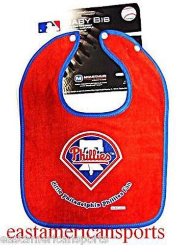 Philadelphia Phillies MLB Boys Baby Infant Toddler Newborn Snap Bib Little Fan