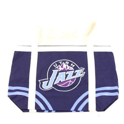 Utah Jazz NBA Canvas Beach Tote Tailgate Bag Purse