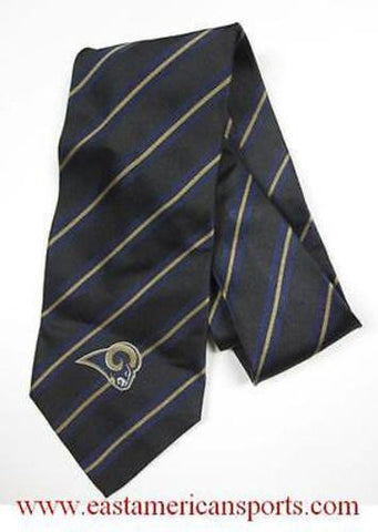 St Louis Rams NFL 100% SILK Suit Neck Tie Woven Stripe Ralph Marlin Football