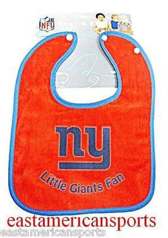 New York Giants NFL Red Boys Baby Snap Bib Infant Toddler Newborn Little Fan